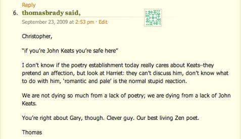 Keats Comment