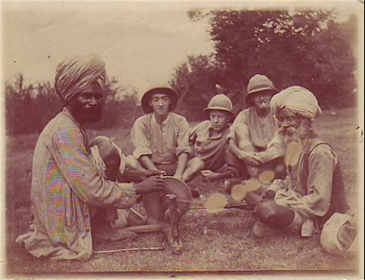 British Soldiers Observing Indian Craftsmen
