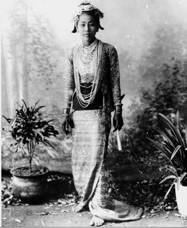 Burmese Girl with Cheroot - Gertrude Bel 1903