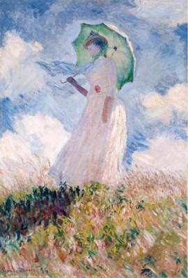 Claude Monet, Femme à l'Ombrelle Tournée vers la Gauche