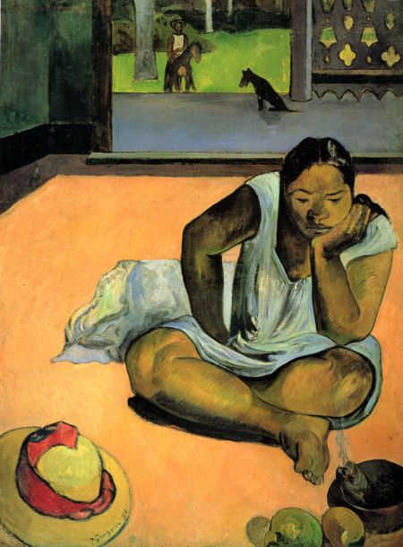 Gauguin - Brooding Woman 450