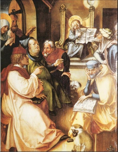 Albrecht Durer - 14 year old Jesus in the Temple 1494-7