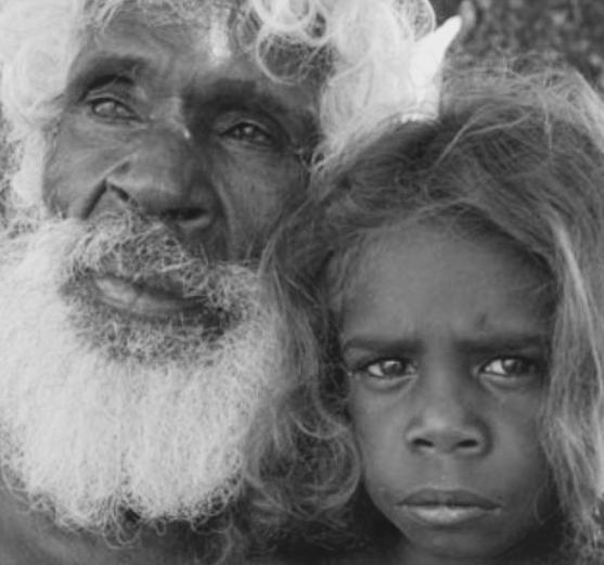 Aboriginal Elder and granddaughter